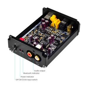 Freeshipping Bluetooth 5.0 Receiver Decoder Audio QCC3008 CSR8675 APTX APTX HD JRC5532 ES9038 Coaxial Fiber DAC Decoding Home Theater