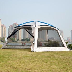 Beach Garden Balıkçılık için Cibinlik Tenteler Güneş Shelter ile Aile Partisi Dış Büyük Uzay Çadırı için 5-8 Kişi Kamp Çadırı
