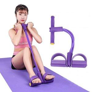 Multi-Funktions-4 Röhren Puller Pedale elastische Beinspannseil Body Shaping Thin Yoga Gurt Abdominal Fitness Sport