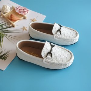 New Designers Children Shoes Boys Girls Casual Shoe Kids Leather Sneakers Boys Girls Boat Shoes Slip On Soft Casual Flats Shoes