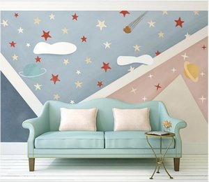3d wallpaper custom photo mural Modern Nordic style cartoon geometric starry sky background wall decoration painting furniture wallpaper