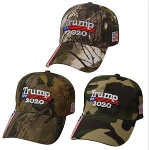 Новый Дональд Трамп Cap Камуфляж Keep America Great USA Flag Бейсболки Snapback Hat Вышивка Star Письмо Camo Army Cap LJJA1828
