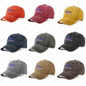 BIDEN 2020 Imprimir cartas Caps casquillo del visera EE.UU. Elección BIDEN Béisbol de Verano bordado lavable Sunhat Deportes Playa Cap Sombrero D7612