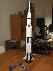 Apollo nouvelles 37003 Saturn V Space Launch Vehicle USA Rocket 16014 MODÉLISME Blocs jouets pour les enfants Compatible 10231 21309 2020