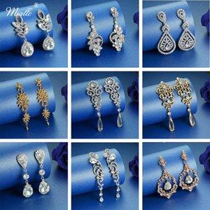 Miallo Newest Crystal Women Girls Long Drop Earrings for Party Wedding Rhinestone Bridal Earrings for Bride Bridesmaids
