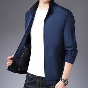 JqsKY Zipper casual stand collar 2019 autumn basic coat factory Zipper casual men's stand collar 2019 autumn jacket basic men's jacket coat