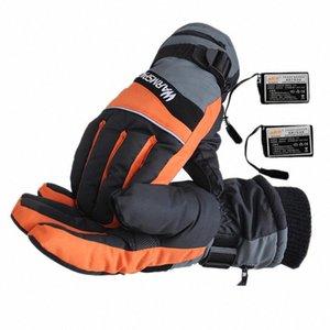 2020 2020 Guantes USB Nueva manera del invierno mano caliente de ciclo de la motocicleta de la bicicleta del esquí de la batería recargable con calefacción eléctrica térmica zkD4 #