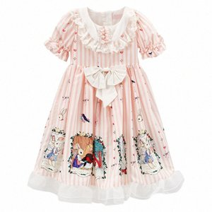PPXX Kız Prenses Giydirme Masal Lolita Dantel Bow Parti Elbise Örgün Genç Kız Plus Size kızlar giysi Yüksek Kalite vhMa #