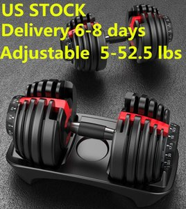Weight Adjustable Dumbbell 5-52.5lbs Fitness Workouts Dumbbells tone your strength and build your muscles