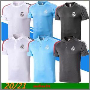 2020 Real Madrid Polo Soccer Jersey 20/21 Real Madrid Hazard Polo Chemise Ramos Modric Asensio Isco Football Polo Uniforme