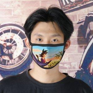 Dhl Free Shipping Son Goku 0620 Cartoon Facemasks Cute Face Mask For Boys Ice Silk Bilayer Cubrebocas Masque Tissu Tapaboca beidiensport Sob