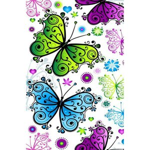 Stickers Butterfly Flower Full Drill 5D Diamond Round Rhinestone Embroidery Painting DIY Cross Stitch Kit Mosaic Draw Home Decor Art Gift