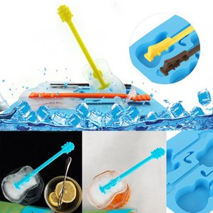 Crative Guitar Silicone Ice Cube Tray Freeze Pudding Mold Chocolate Mould Baking Kitchen Ice Cube Maker Home Bar Accessories