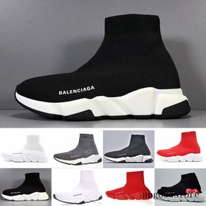 Sneakers Speed Trainer Black Red Gypsophila Triple Black Fashion Flat Sock Boots Casual Shoes Speed Trainer Runner With Dust Bag ERT5H