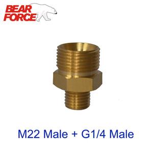 Adaptador de conector pistola de agua de la nieve de Lance M22 Male + G1 / 4 Male Brass para Snow Lanza / espuma Boquilla para alta