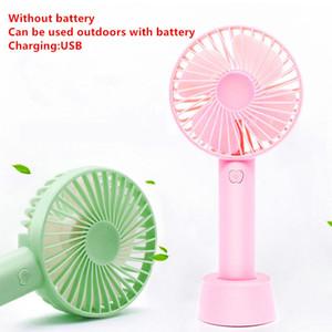 Mini Fan USB Cooler El Klima traval El Masaüstü Katlama Şarjlı Ayakli Taşınabilir Fan