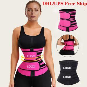 DHL libera la nave ente shapewear dello shaper Doppia Compressione Vita trimmer lattice Cincher della vita che dimagrisce le cinghie del Tummy della vita Trainer