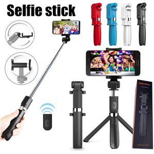 L01 inalámbrica Bluetooth remoto extensible selfie palillo móvil del sostenedor del soporte del teléfono 3 en 1 trípode de cámara para teléfonos inteligentes MQ20