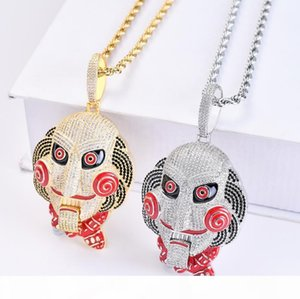 P Large Chainsaw Scary Mask Doll Pendant Mouth Movable Top With High -Quality Hip -Hop Hipster Necklace