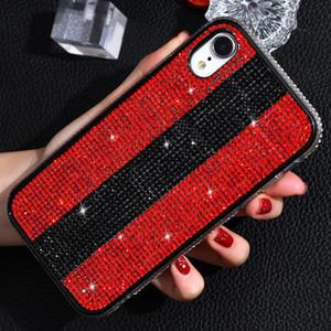 Adecuado para iPhone 11promax 7plus creación de la moda caja del teléfono móvil con diamantes caja del teléfono inspirado diseñador de la protección anti-caída 8p XR X Max