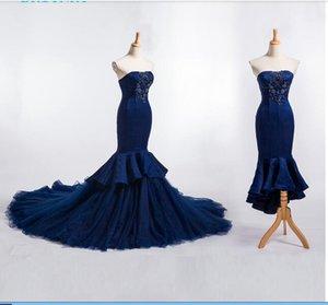 оптовые без бретелек свадебного платья красного кружева бисера Русалка Свадебных платьев Съемных юбки Урожай Свадебных платья