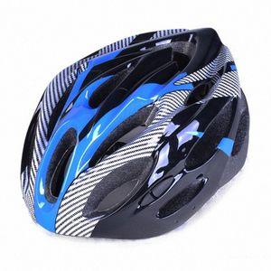 In fibra di carbonio Texture casco di guida Mountain Bike Outdoor Split Protezione Hat rFqd #