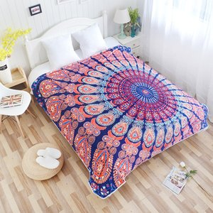 Bohemian Sofa Air Bedding Throw Blanket Boho Mandala Fleece Blankets for Beds Bedspread Couverture Polaire Plaids Drop Shipping