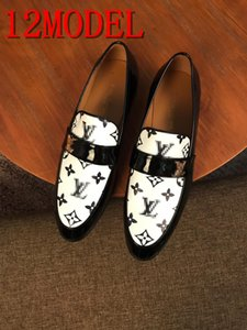 2019 new luxurious black patent leather men handmade loafers with black rhinestone bowtie Fashion party and prom men dress shoes SIZE 38-45