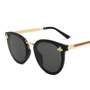2020 роскошь пчела Моды для женщин Солнечных очков кошачьего глаза Марка Дизайн ВС очки óculos ретро CatEye солнцезащитных очков