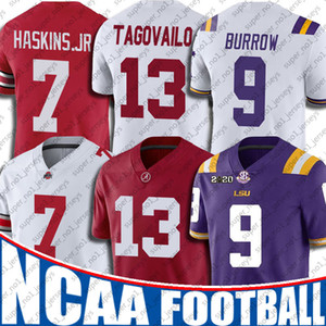 NCAA LSU Tigers 9 Joe Burrow Jersey College Football Tua Tagovailo maglie 7-23 Tom Brady Patrick Mahomes Lamar Jackson Drew Brees Jersey