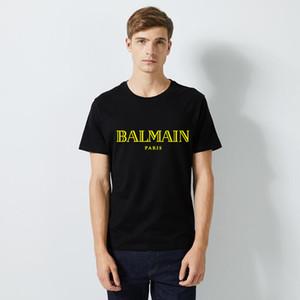 Großhandel Gold 5XL / Balm LuxuxMens Designer-T-Shirts Marke Rundhals-Shirt Streetwear Europa Männer Baumwollbeiläufiges Frauen Tees Tops