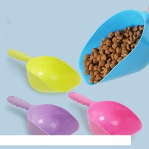 Dog Shovels Pet Plastic Food Feeder Multi Color Portable Cat Foodstuff Scoop Spade Environmental Friendly Non Toxic Dog Supplies DBC VT0995