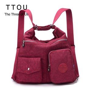 TTOU femmes étanche Sac Double Sac à bandoulière Designer Sacs à main de haute qualité en nylon Femme Sac à main 11 couleurs Bolsas sac a main