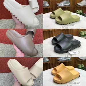 2020 Kanye West Köpük Runner Terlik Sandal ayakkabı erkekler Kadınlar Üçlü Siyah Beyaz Kırmızı Çöl Kumu Kemik Reçine Açık Slaytlar Ayaklı Sandalet