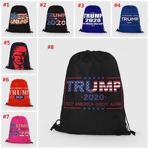 2020 США Президентская кампания цифровой печати Trump сумка кампании Pattern Открытый полиэстер Рюкзак Drawstring Карманный T3I5941