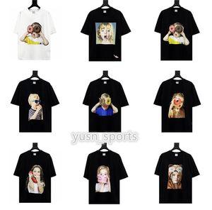 Acme De La Vie ADLV Brand SHIRT 한국 전기 드 보헤미안의 ADLV 브랜드 디자이너 최고 품질 남성 여성 T 셔츠 패션 티셔츠 짧은 소매 인쇄하기