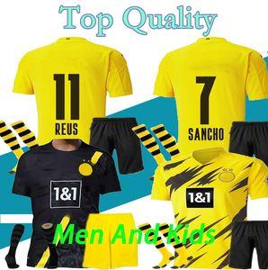 16-XXL Men Kids 20 21 Borussia dortmund soccer jerseys HAALAND 2020 2021 football shirts SANCHO REUS HUMMELS BRANDT PACO DELANEY maillot
