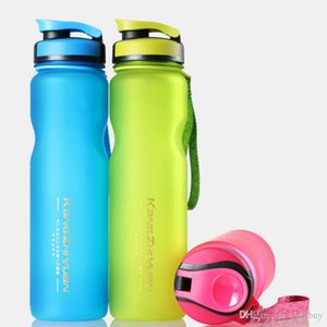 KANGZHIYUAN 1000 مل عالية السعة الرياضة زجاجة من البلاستيك كوب ماء في الهواء الطلق للياقة البدنية ركوب الدراجات كأس الفضاء المحمولة طحن