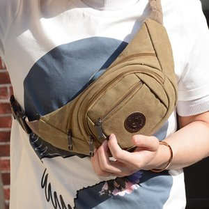 new men's breast Shoulder canvas canvas messenger men's shoulder bag chest small backpack Leisure running bag