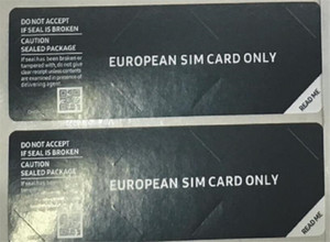 Universal mobile phone seal label sticker for samsung Galaxy EUROPEAN Asia SIM CARD ONLY middlee southe Free Ship