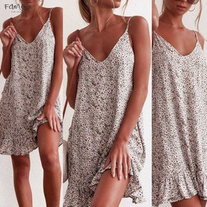 Floral Dress Women Dresses Summer 2020 Womens Printing Off Shoulder Short Sleeve Mini Dress Princess Dress Y3