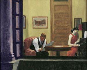 Edward Hopper Habitación en Nueva York Decoración Artesanías / impresión de HD pintura al óleo sobre lienzo arte de la pared de la lona representa 200801