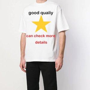 2020ss dos homens T de casais Bloquear roupas letra impressa camisa novos pares de moda clássico das mulheres men s roupa do verão T do grupo do pescoço 2206 #