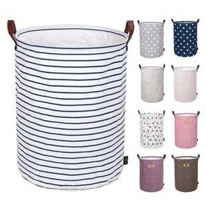 Bolsas plegable cesta del almacenaje de los niños Juguetes de almacenamiento de artículos varios compartimientos impresos Cubo lienzo bolsos de mano Ropa Organizador 12pcs DHC17
