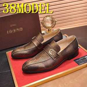 Italian Style luxurious Men Shoes Slip-On Formal Dress Leather Shoes Fashion High Quality Flats Loafers Big Size Wedding Party Shoe