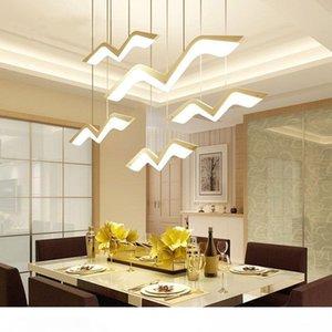 1 2 3 4 5 Pcs Gaivota LED Pendant Light Modern Originalidade AC 90-260V luminária Simples Quarto Study Bar Hanglamp