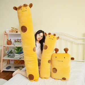 50-150cm Hot Selling Long Lovely Giraffe Crocodile Cat Elephant Pillow Cute Forest Animals Plush Toys Children Birthday Present MX200716