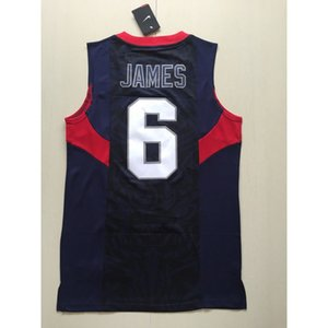 JAMES #6 basketball jerseys S-XXL national TOP Cheap stitched Basketball jerseys