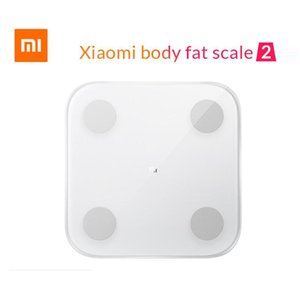Nova chegada Xiaomi Mi inteligente Body Fat Scale 2 Com Composição Mifit APP corpo monitor com LED escondido exibição Fat Scale