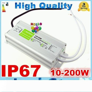 High Quality 12V 200W 150W 100W 60W 45W 30W 20W 10W LED Driver Power Supply Waterproof Outdoor IP67 DHL Free shipping 10pcs Lot